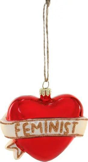 <p>As far as we're concerned, a Christmas tree is the ultimate opportunity to show off your personality. If you want to double down on those girl power vibes, reach for <span>Cody Foster &amp; Co.' Feminist Heart Ornament</span> ($25).</p>