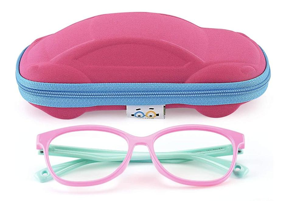 <p>These <span>Seeafun Blue Light Glasses</span> ($13) come with this adorable car case, so we're sold.</p>
