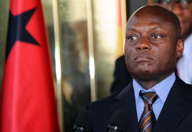 Guinea-Bissau's President Jose Mario Vaz holds a press conference at the presidential palace in Abidjan on June 11, 2014 (AFP Photo/Sia Kambou)