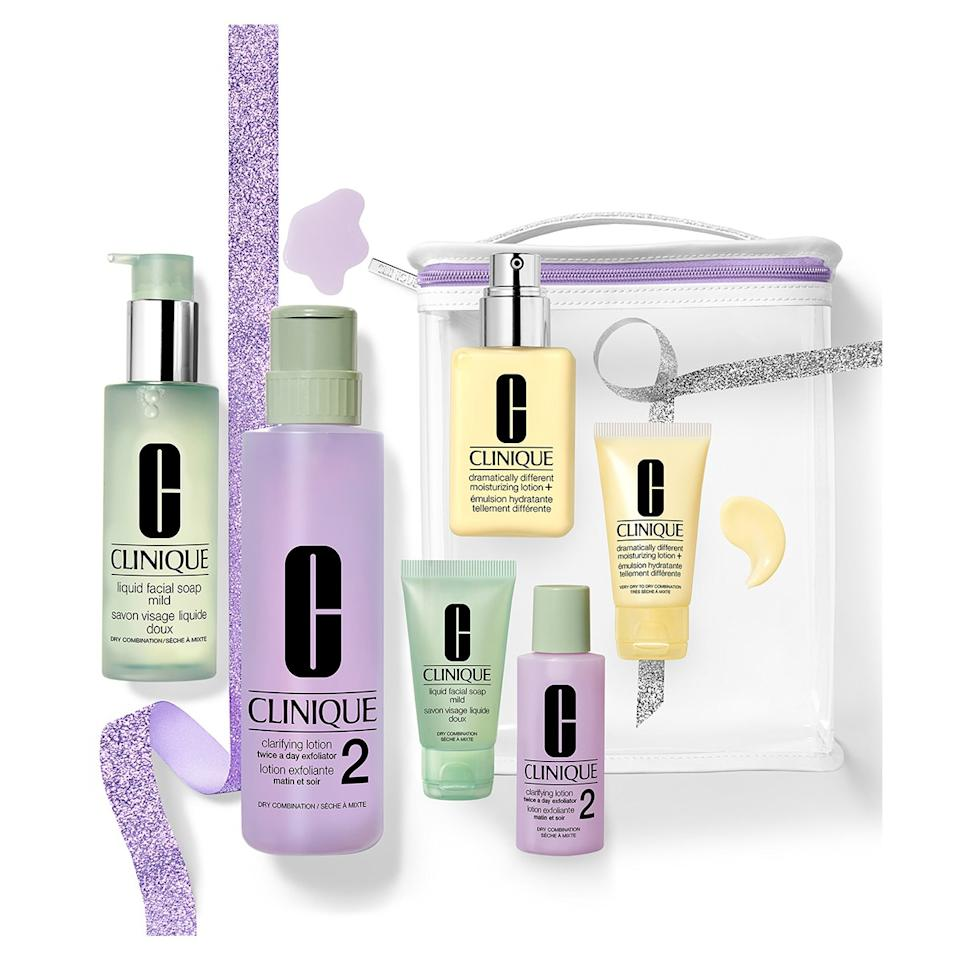 "$68, Nordstrom. <a href=""https://shop.nordstrom.com/s/clinique-great-skin-anywhere-3-step-skin-care-set-for-dry-skin-98-value/5423721/full?origin=category-personalizedsort&breadcrumb=Home%2FSale%2FAll%20New%20Markdowns&color=none"">Get it now!</a>"