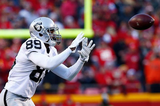 Oakland Raiders receiver Amari Cooper has struggled to find the end zone. (Getty)
