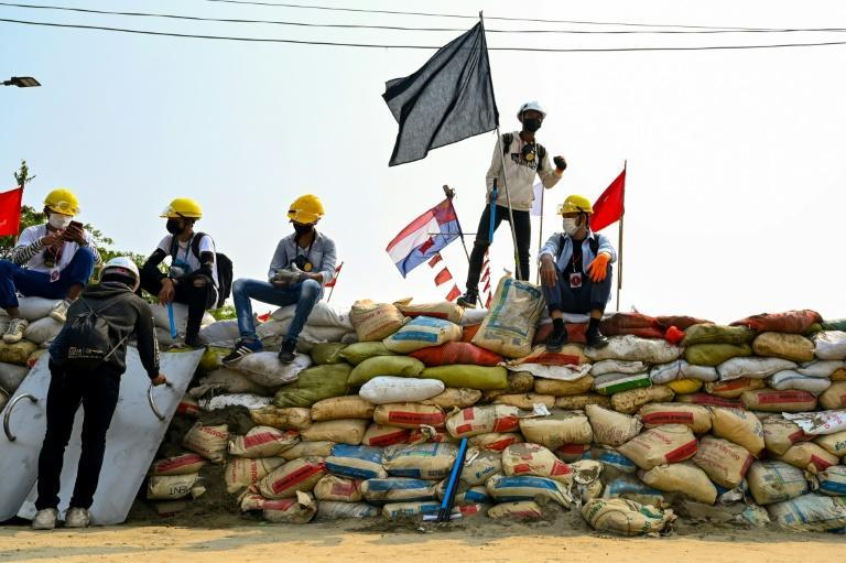 The barricades have become something of a protester trademark, blocking main roads and employing everything from sand-filled cement bags and bamboo screens to large, wheely garbage bins and housing bricks