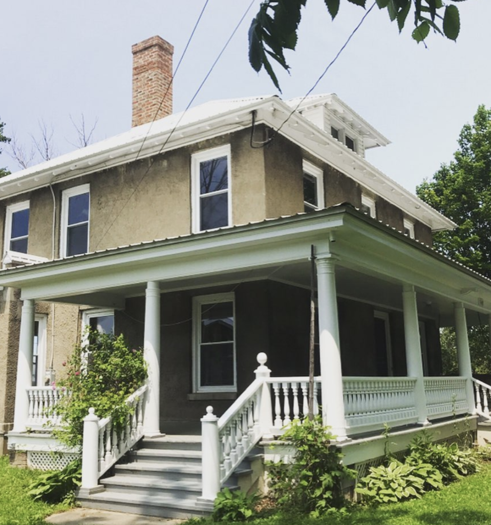 The property purchased by Nick Drummond and Patrick Bakker in upstate New York was believed to be built by a bootlegger.