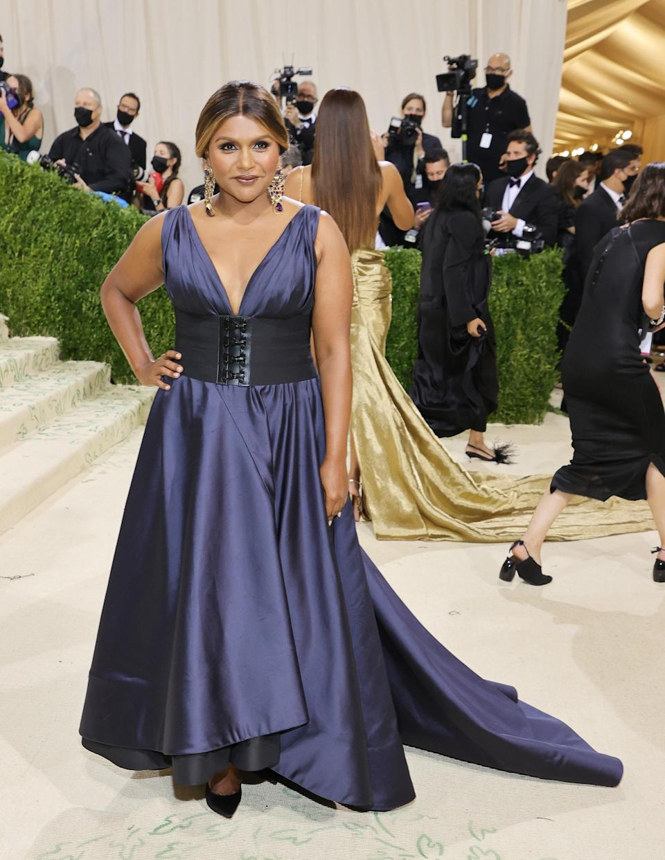 """<h1 class=""""title"""">Mindy Kaling,The 2021 Met Gala Celebrating In America: A Lexicon Of Fashion - Arrivals</h1><cite class=""""credit"""">Getty</cite>"""