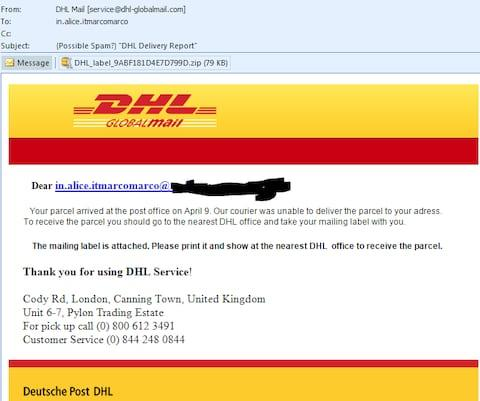 A fake click and collect email  - Credit: My Online Security