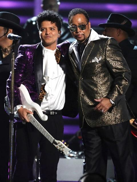 Morris Day with Bruno Mars