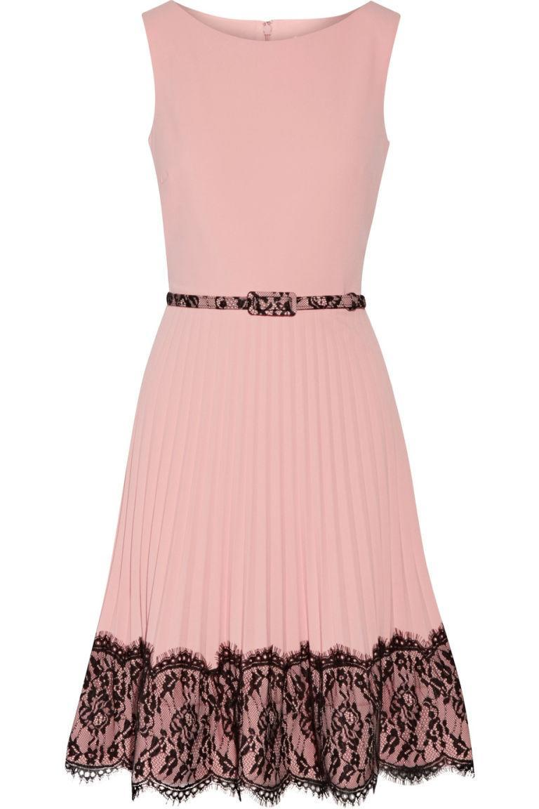 "<p><em>Lace-Paneled Pleated Crepe Dress, MIKAEL AGHAL (Available at The Outnet), $251</em></p><p><a href=""https://www.theoutnet.com/en-US/Shop/Product/Mikael-Aghal/Lace-paneled-pleated-crepe-dress/960733"" rel=""nofollow noopener"" target=""_blank"" data-ylk=""slk:BUY NOW"" class=""link rapid-noclick-resp"">BUY NOW</a></p>"