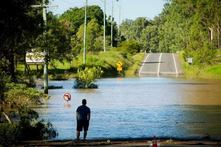 Torrential rains in the wake of a powerful tropical cyclone dumped massive amounts of rain on parts of eastern Australia