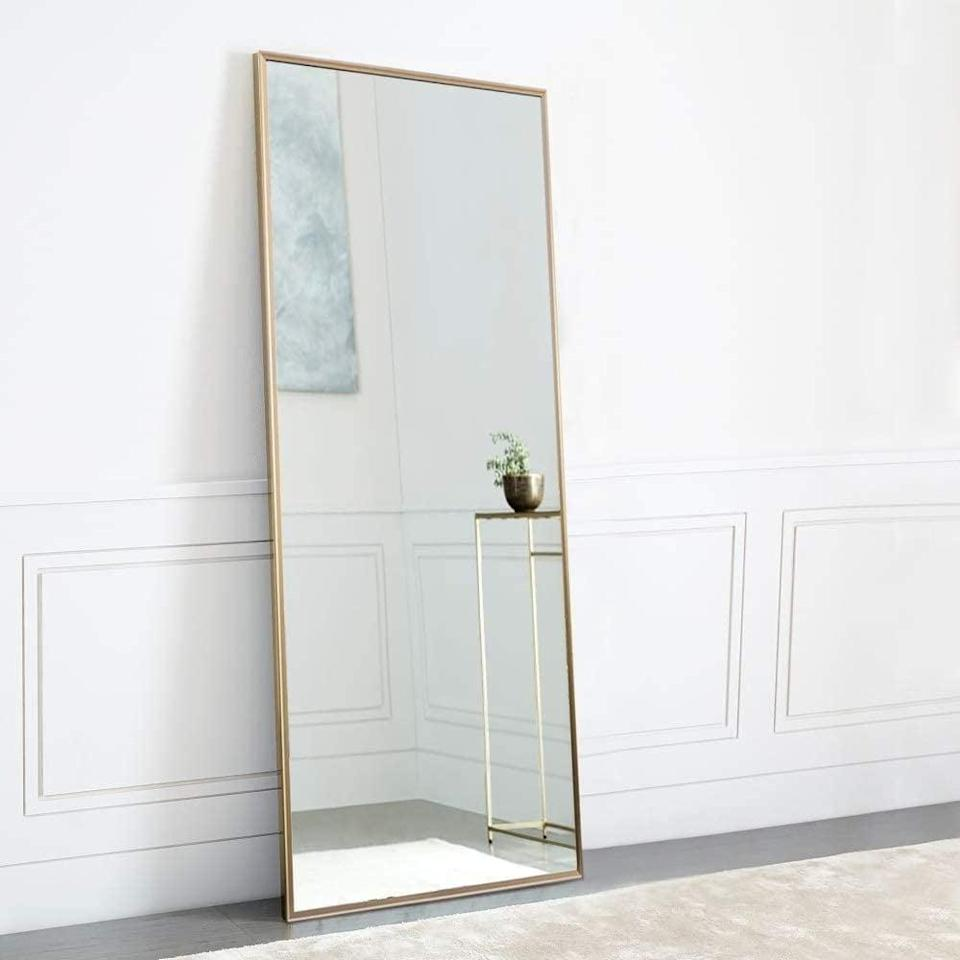 """<p>Take the perfect mirror selfie with this <span>NeuType Full Length Mirror 65""""x22""""</span> ($130) that can either lean against the wall or hang. </p>"""