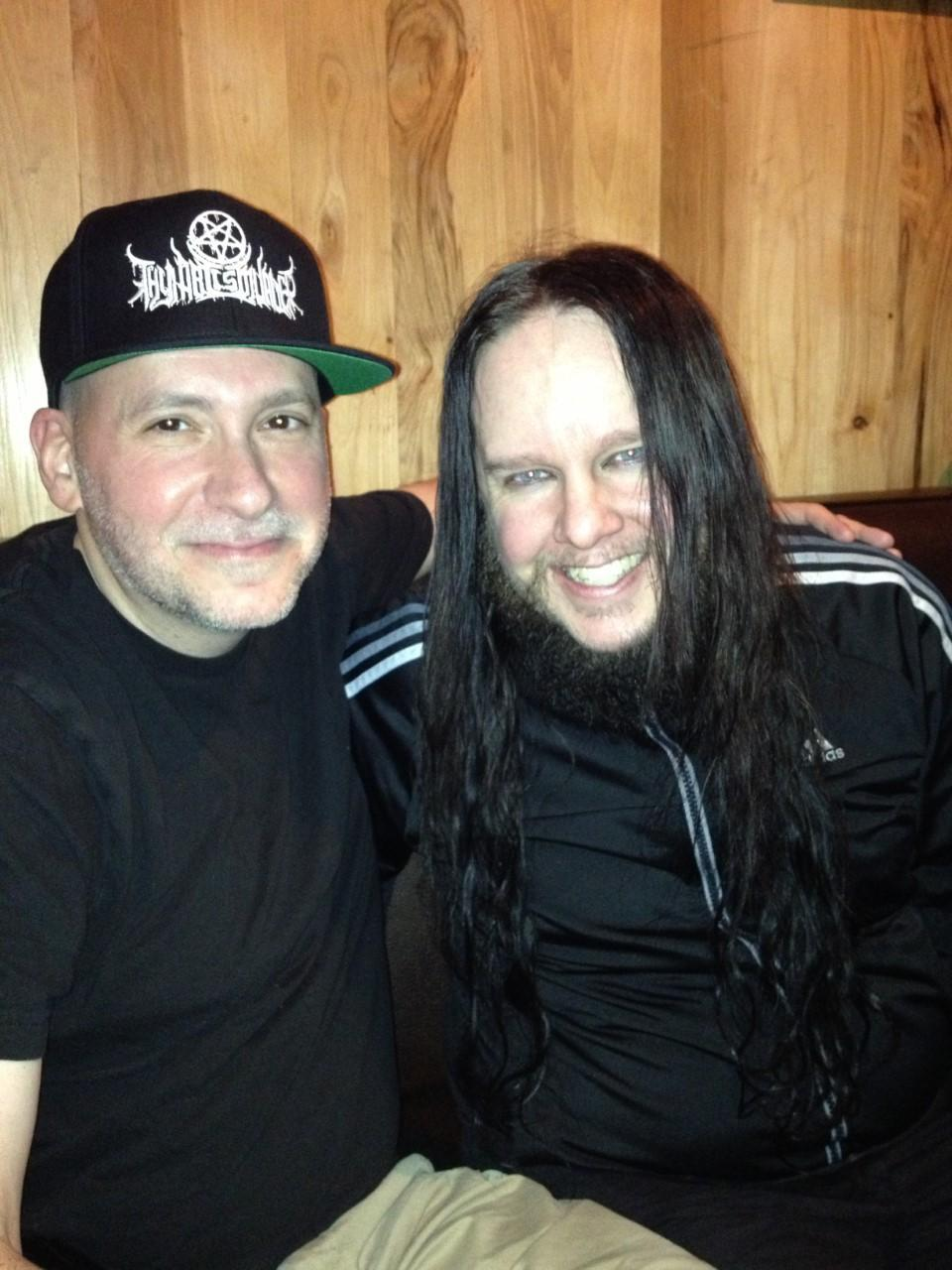 Joey Jordison (right) with Monte Conner, 2013 - Credit: Courtesy Monte Conner