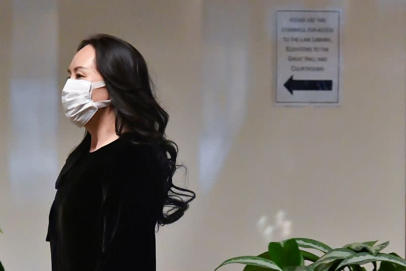 Huawei Technologies Chief Financial Officer Meng Wanzhou arrives at court in Vancouver