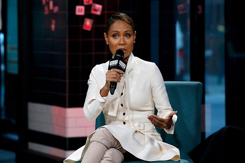 NEW YORK, NEW YORK - JANUARY 22: Jada Pinkett Smith attends the Build Series to discuss the web TV talk show 'Red Table Talk' at Build Studio on January 22, 2019 in New York City. (Photo by Dominik Bindl/Getty Images)