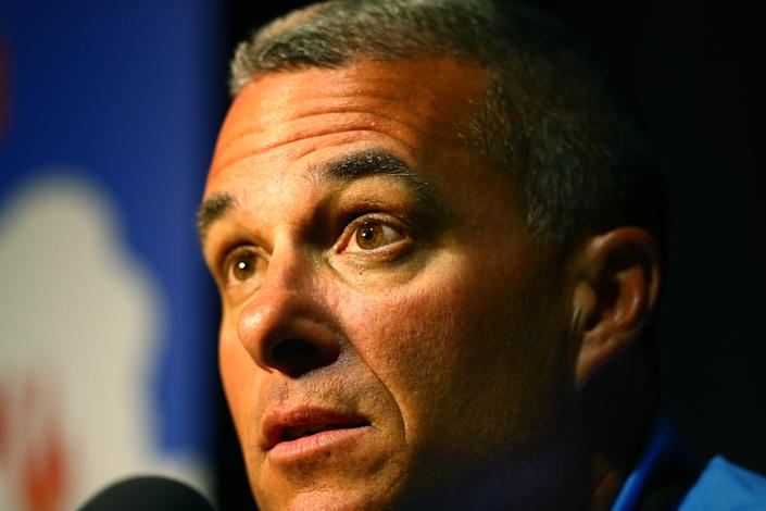 Kansas City general manager Dayton Moore has some decisions to make. (USA TODAY Sports)