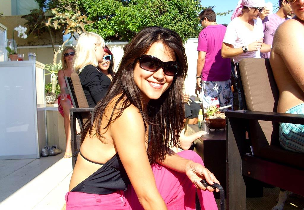 Actress Camille Guaty flashes the camera a smile. omg! Staff/Polaroid Malibu Beach House - August 13, 2007
