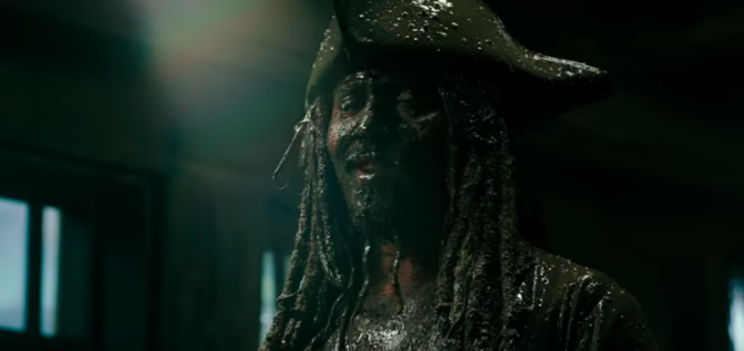 Johnny Depp as Jack Sparrow in a teaser for Dead Men Tell No Tales.