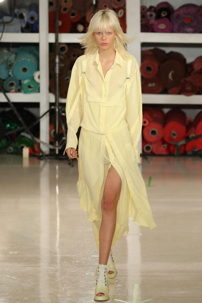 <p>Exhibit A: further evidence that pink may lose its millennial fanbase. At Sies Marjan, models stepped out in a series of saccharine treats. So good, you can almost taste it. <em>[Photo: Getty]</em> </p>