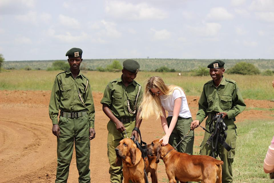 Emily Walker, the founder on KAAP, meets frontline anti-poaching rangers in Kenya (Emily Walker)