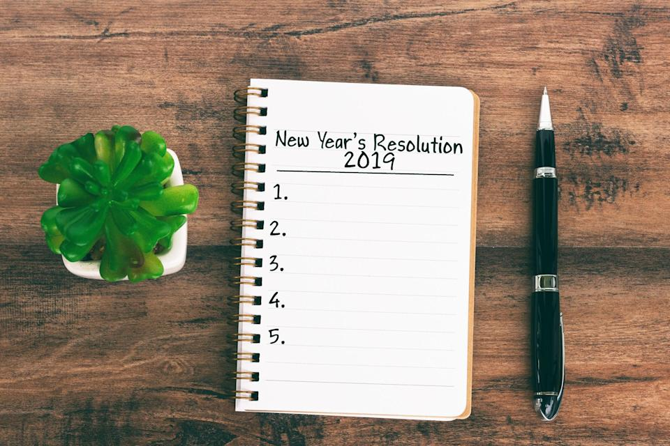 All the good intentions but New Year's Resolutions are notoriously hard to stick to [Photo: Getty]