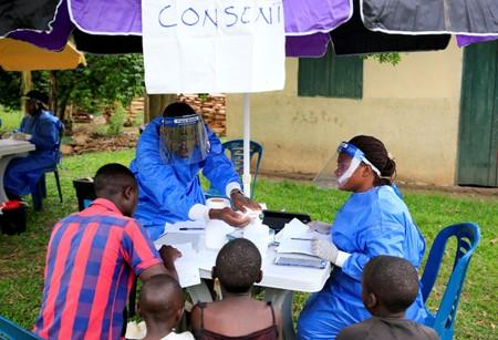 FILE PHOTO: Vaccination against ebola virus in Kirembo village