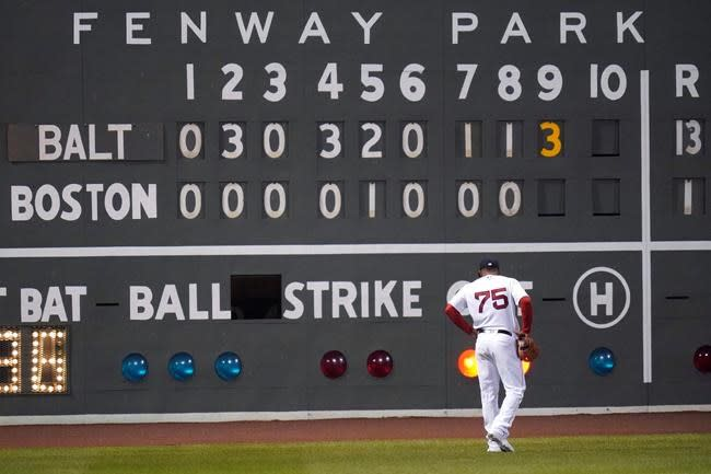Hays, Orioles bash Red Sox 13-1 to avoid last in AL East