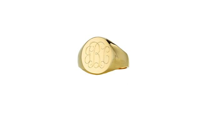 "<p>You can have your mom's monogram put on this classic gold signet ring.<br><br>Lana Oval Signet Ring (Custom Monogram), $118, <a href=""https://www.sarahchloe.com/personalized/rings/lana-signet-monogram-ring"" rel=""nofollow noopener"" target=""_blank"" data-ylk=""slk:sarahchloe.com"" class=""link rapid-noclick-resp"">sarahchloe.com</a><br><br></p>"