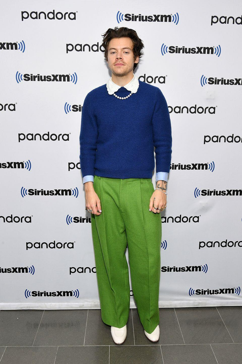 <p>Harry Styles is the sort of fella you could take home to meet your gran. In fact, he's the sort of fella that dresses a bit like your nan. And thanks to pearls and colour pop knitwear and haunted Edwardian collars, so are we. </p>