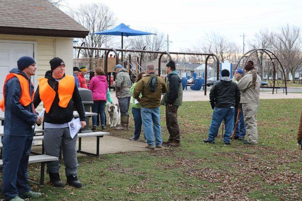 PHOTO: Volunteers gather in Lakeview Park in Port Clinton, Ohio to help search for missing 14-year-old Harley Dilly, Jan. 12, 2020. (Jon Stinchcomb/Port Clinton News Herald via USAToday Network)