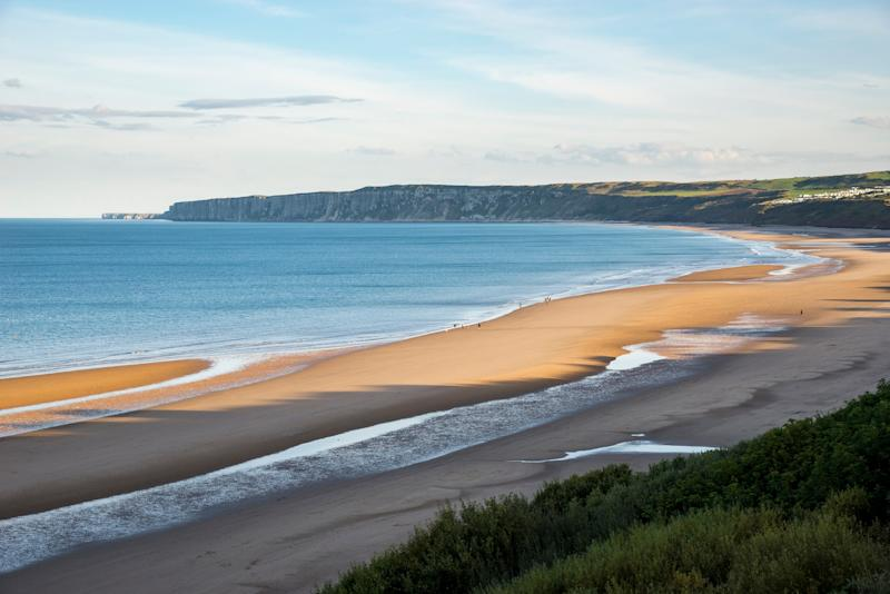 The vast beach at Filey - getty