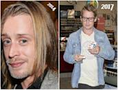 """<p>The former child star was also seen picking up cigarettes as a gas station on Sunset Blvd in West Hollywood on Monday — a tad less camera shy on this occasion, and we get a better look at Culkin's youthful features before he heads back to a car waiting outside. The """"Richie Rich"""" star sat in the back of the vehicle with Song, the actress who played London Tipton on the """"Suite Life Of Zack and Cody,"""" while fellow actor Seth Green sat in the front. Song and Culkin will star in the upcoming flick """"Changeland,"""" a dramedy written and directed by Green. (Photos: L: Getty/2014/ R: Splash News/July 24, 2017) </p>"""