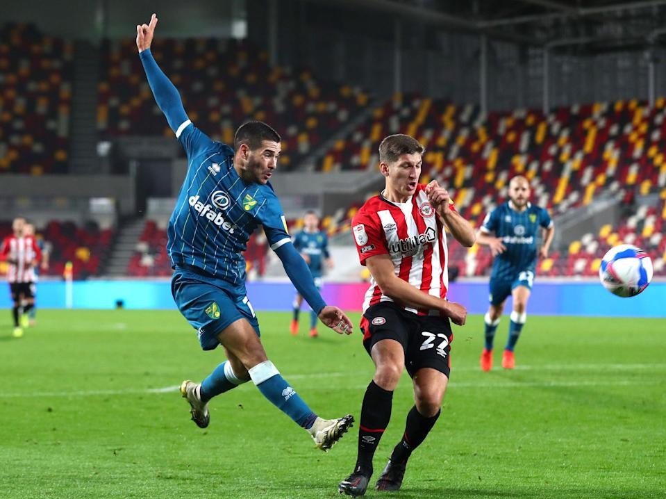 <p>Norwich take on Brentford tonight</p> (Getty Images)