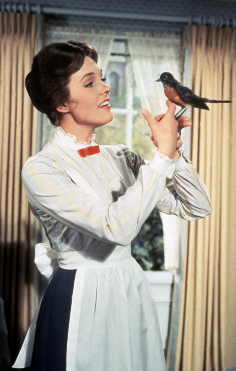 A scene from the Disney film 'Mary Poppins' (1964) starring Julie Andrews.