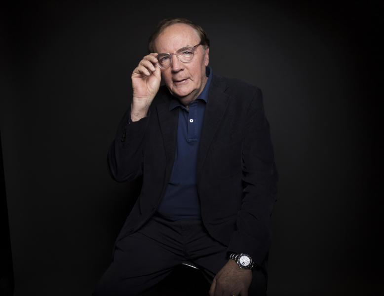 FILE - In this Aug. 30, 2016, file photo, author James Patterson poses for a portrait in New York. Oscar-winning actor Jon Voight, singer and musician Alison Krauss and mystery writer Patterson are among those being honored by President Donald Trump for their contributions to the arts or the humanities. The White House announced four recipients of the National Medal of Arts and four of the National Humanities Medal Sunday night, Nov. 17, 2019. (Photo by Taylor Jewell/Invision/AP, File)