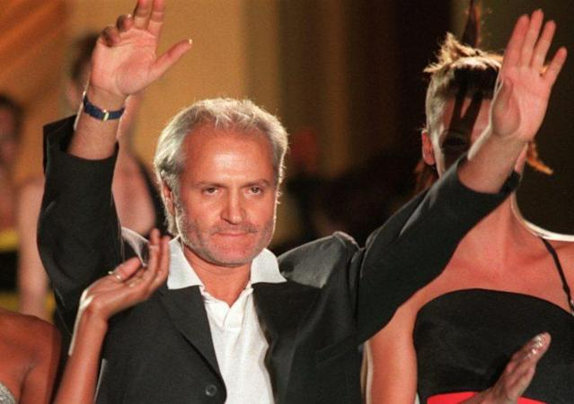 Gianni Versace in July 1996 after a show in Paris. (Photo: AP/Lionel Cironneau)