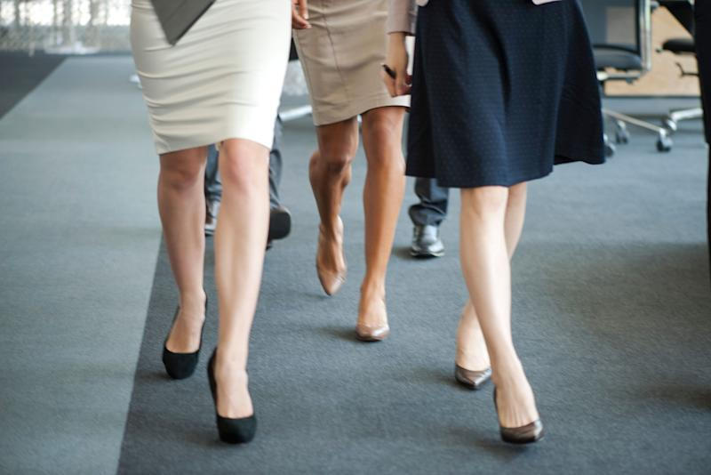 Would you wear a skirt to get a bonus? Image: Getty