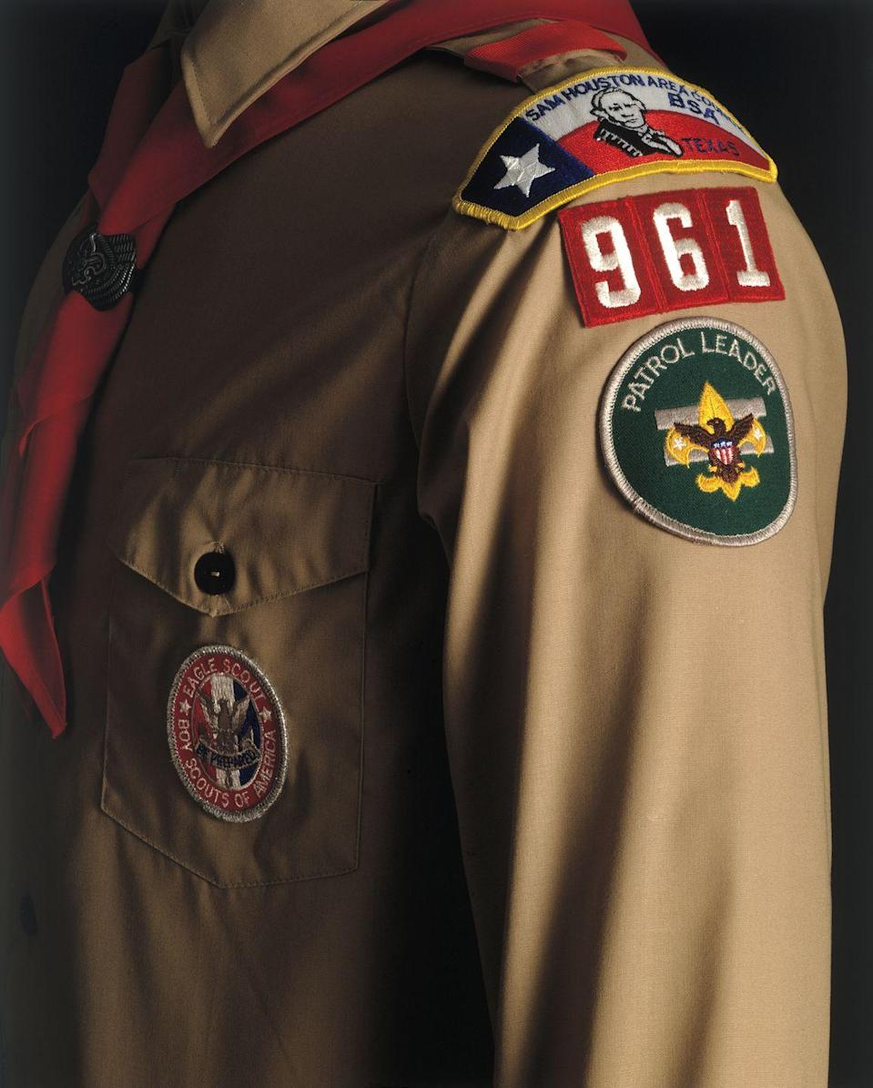 """<p>Founded in the United States in 1910, the Boy Scouts are still going strong, and so is their highly sought-after memorabilia. If you run across patches from the early years in pristine condition, complete uniforms, or pocket knives, backpacks, and other gear, you might have hit the jackpot. <a href=""""https://www.drloriv.com/Tips/ID/4393/Boy-Scouts-memorabilia"""" rel=""""nofollow noopener"""" target=""""_blank"""" data-ylk=""""slk:Some items"""" class=""""link rapid-noclick-resp"""">Some items</a> could sell for hundreds, or even as much as $5,000.</p>"""