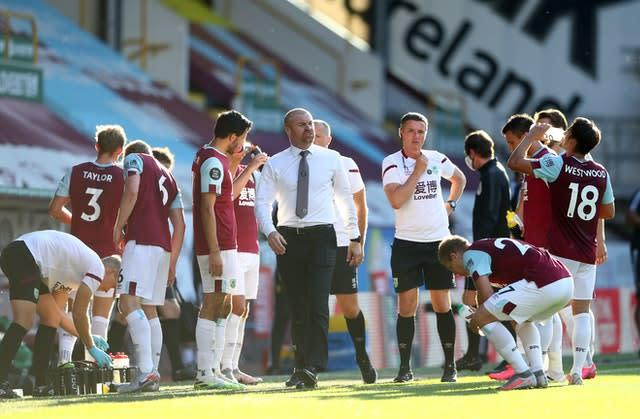 The drinks break came at a good time for Burnley (Michael Steele/NMC Pool/PA)