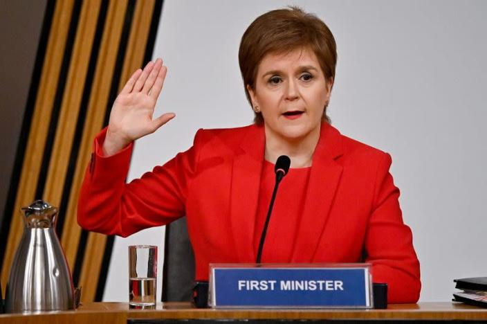 Nicola Sturgeon appears at inquiry into the Committee on the Scottish Government Handling of Harassment Complaints against former FM Salmond in Edinburgh