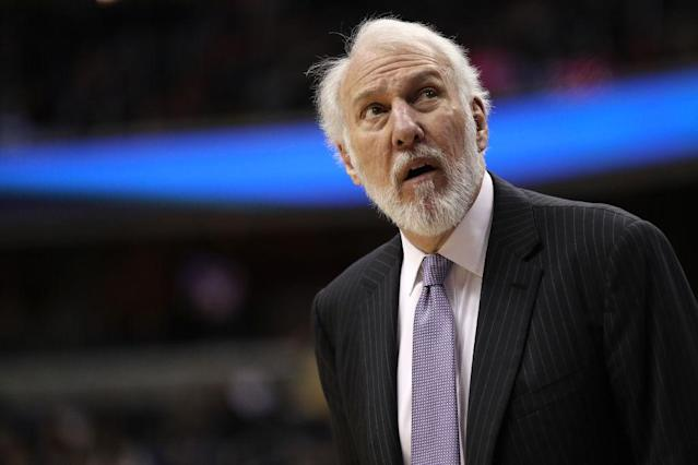 Gregg Popovich apparently doesn't find value in using his free time to keep up with NBA news. (Getty)