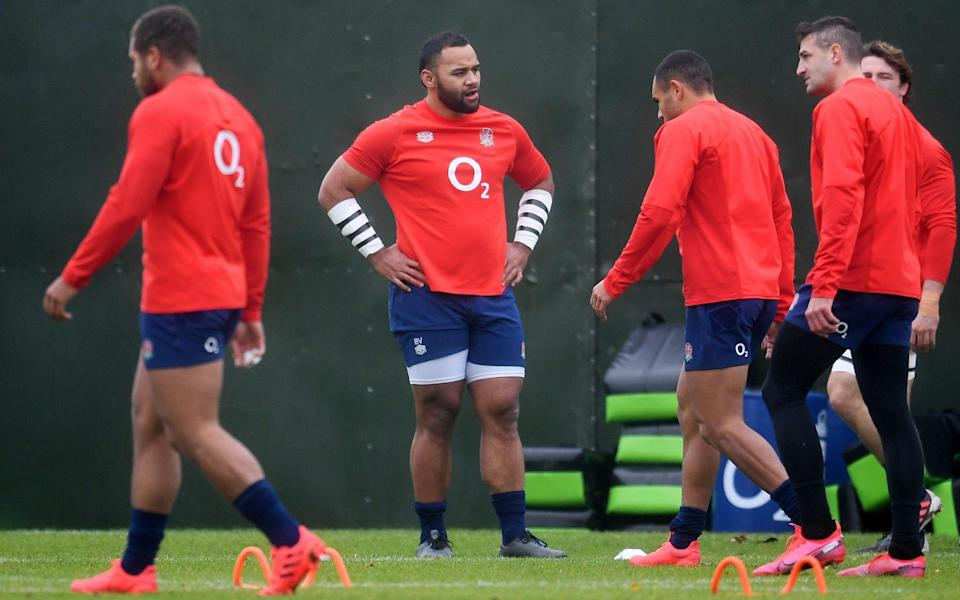 England players walk off after training - GETTY IMAGES