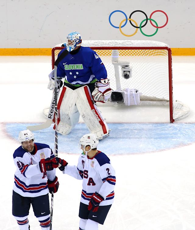 Ice Hockey - Winter Olympics Day 9 - Slovenia v United States