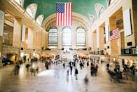 "Some 82 million passengers transit through <a href=""https://www.cntraveler.com/activities/new-york/grand-central-terminal?mbid=synd_yahoo_rss"" rel=""nofollow noopener"" target=""_blank"" data-ylk=""slk:Grand Central terminal"" class=""link rapid-noclick-resp"">Grand Central terminal</a> each year, catching Metro-North trains to upstate New York and Connecticut and subways around <a href=""https://www.cntraveler.com/destinations/new-york-city?mbid=synd_yahoo_rss"" rel=""nofollow noopener"" target=""_blank"" data-ylk=""slk:New York City"" class=""link rapid-noclick-resp"">New York City</a>. It's become a destination for tourists, too, thanks to its Beaux Arts design, the main concourse's iconic green zodiac ceiling mural and central clock, and restaurants, like the famed <a href=""https://www.cntraveler.com/restaurants/new-york/grand-central-oyster-bar?mbid=synd_yahoo_rss"" rel=""nofollow noopener"" target=""_blank"" data-ylk=""slk:Grand Central Oyster Bar"" class=""link rapid-noclick-resp"">Grand Central Oyster Bar</a> and <a href=""https://www.cntraveler.com/story/the-campbell-apartment-grand-centrals-secret-bar-is-reopening?mbid=synd_yahoo_rss"" rel=""nofollow noopener"" target=""_blank"" data-ylk=""slk:The Campbell Apartment"" class=""link rapid-noclick-resp"">The Campbell Apartment</a> speakeasy."