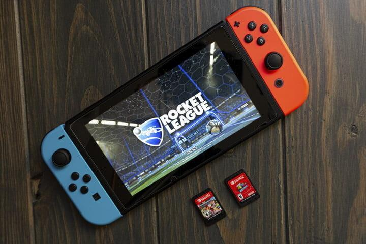 Nintendo Switch with Rocket League