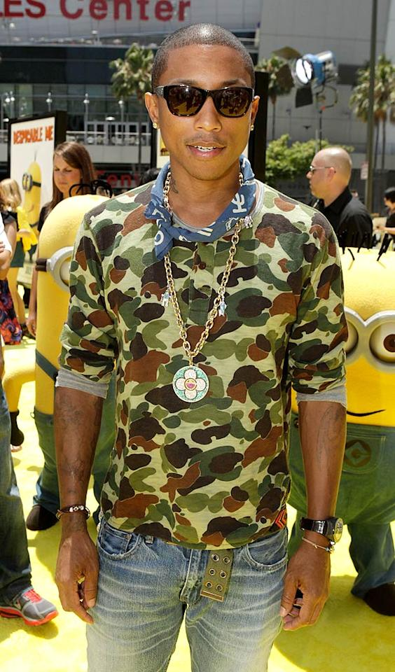 """April 5: Pharell Williams turns 38 Todd Williamson/<a href=""""http://www.wireimage.com"""" target=""""new"""">WireImage.com</a> - June 27, 2010"""