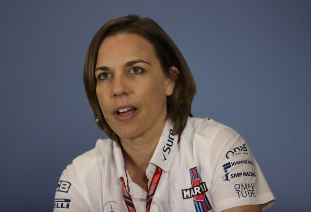 Claire Williams is now the de facto boss of the British team (David Davies/PA)
