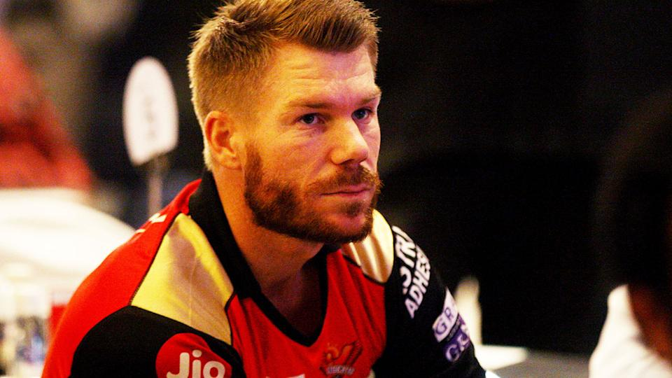 David Warner, pictured here during a Sunrisers Hyderabad game in the IPL.