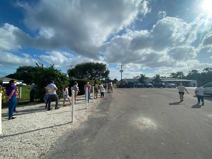 The line at Knaus Berry Farm in Homestead on Election Day was more than four hours long in the afternoon.