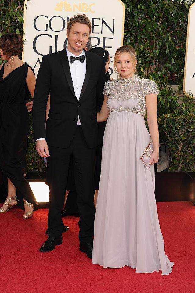 Dax Shepard and Kristen Bell arrive at the 70th Annual Golden Globe Awards at the Beverly Hilton in Beverly Hills, CA on January 13, 2013.