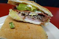 """<p>In the Theater District, with 74 tips and reviews. Jeff Schroer writes, """"Order the Cuban sandwich immediately upon entering at counter on left. Pair w/ lemonade. Best cheap lunch in Times Square."""" <a href=""""http://margonnyc.com/"""" rel=""""nofollow noopener"""" target=""""_blank"""" data-ylk=""""slk:136 W. 46th St."""" class=""""link rapid-noclick-resp"""">136 W. 46th St.</a></p>"""