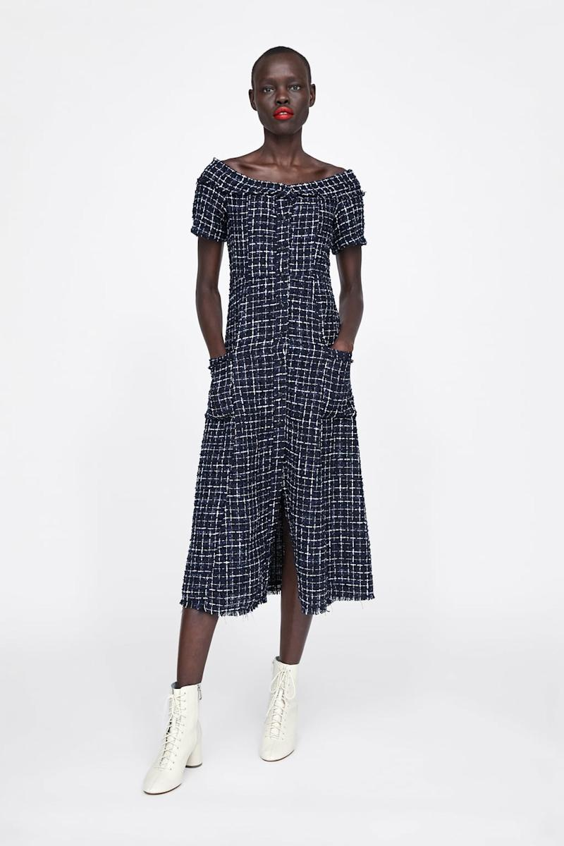 The Zara dress is currently on sale for £19.99 [Photo: Zara]