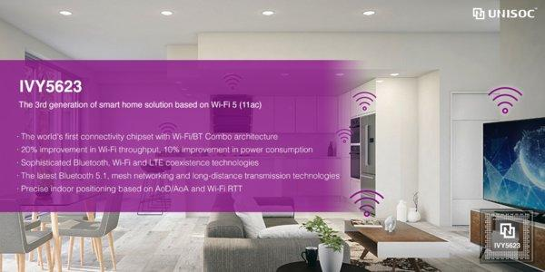 UNISOC Rolls Out its Third-Generation Wi-Fi 5 (11ac)-Based Solution IVY5623 for Smart Home Applications